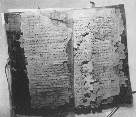 Fragments of a Codex found by a farmer at Nag Hammadi in Egypt in 1945