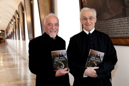 Paulo Coelho with Abbot Burkhard