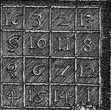 magic square in Melencolia I