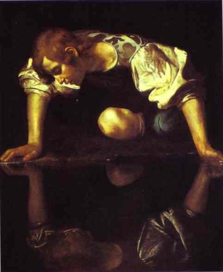 Narcissus and the lake - Caravaggio