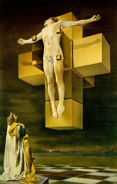 Crucifixion or Corpus Hypercubus - Salvador Dali