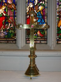 Cross given to St Mary's by sisters of Charles Dodgson