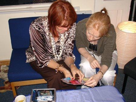 Katrina Moss discussing Ruach Cards