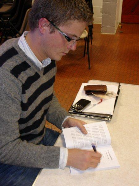 Ben White signing Israeli Apartheid