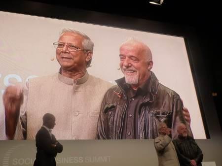 Muhammad Yunus and Paulo Coelho