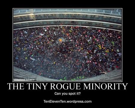 spot the tiny rogue minority
