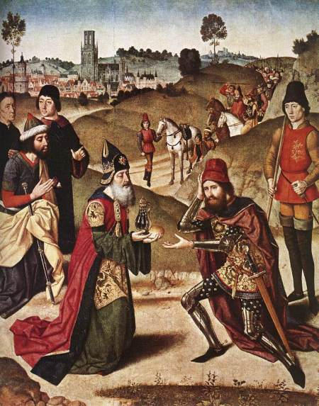 Meeting of Abraham and Melchizedek - Dieric Bouts the Elder, 1464–67