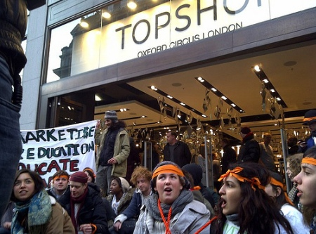 Topshop unpaid tax protest