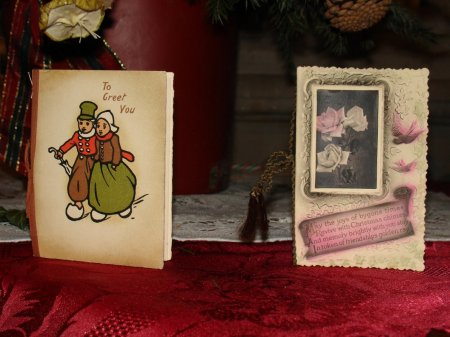 late Victorian Christmas cards