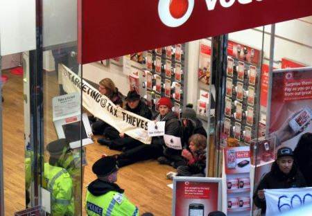 Vodafone protest