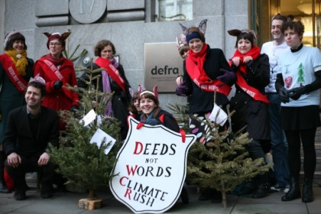 Climate Rush visit Defra