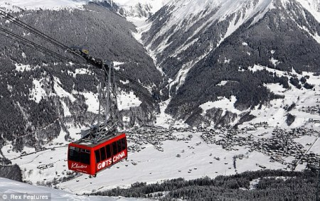 exclusive Swiss ski resort of Klosters