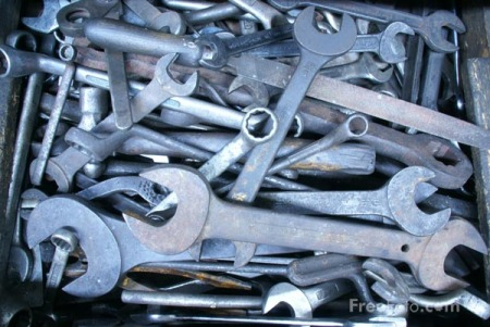 Old tools and spanners