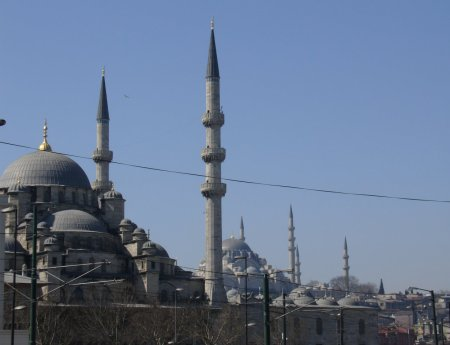 mosques dominate the skyline of Istanbul