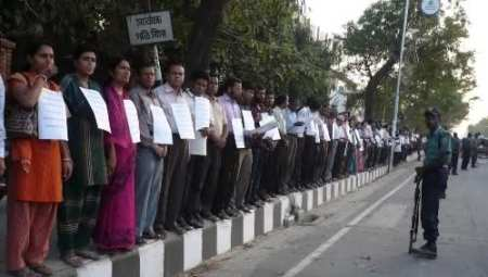 Demonstrations in Dhaka these days, supporting Yunus