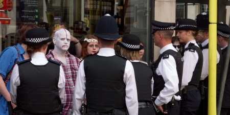 zombies surrounded on Oxford Street