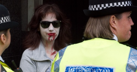another zombie arrested