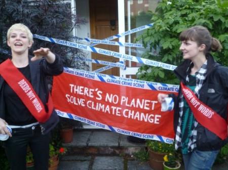 Climate Rush crime scene