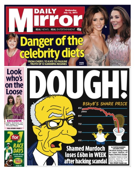 news corp down the toilet