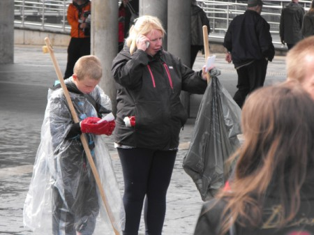 volunteers cleaning Manchester