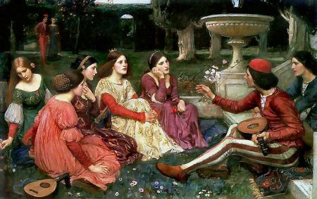 A Tale from the Decameron - John William Waterhouse