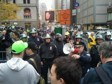 NYPD blockade in contempt of injunction