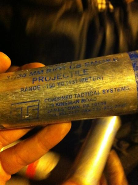 Tear gas manufacturer is 'Combined Tactical Systems' based in Pennsylvania