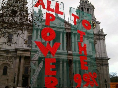 OccupyLSX tower banners
