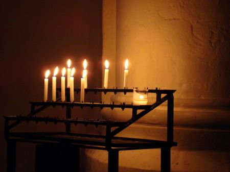 candles in St Andrew's