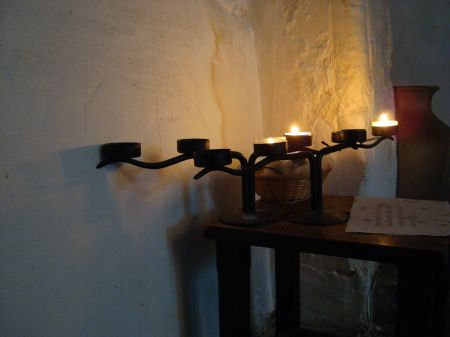 candles in St Mary's