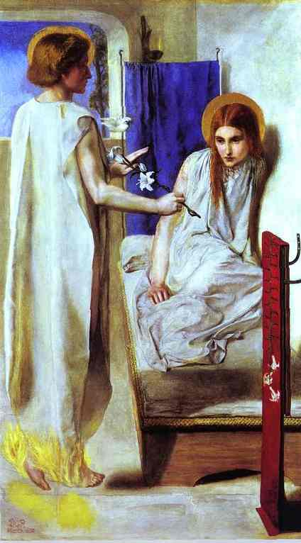 Ecce Ancilla Domini! (The Annunciation) - Rossetti