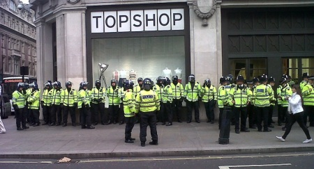 police outside topshop