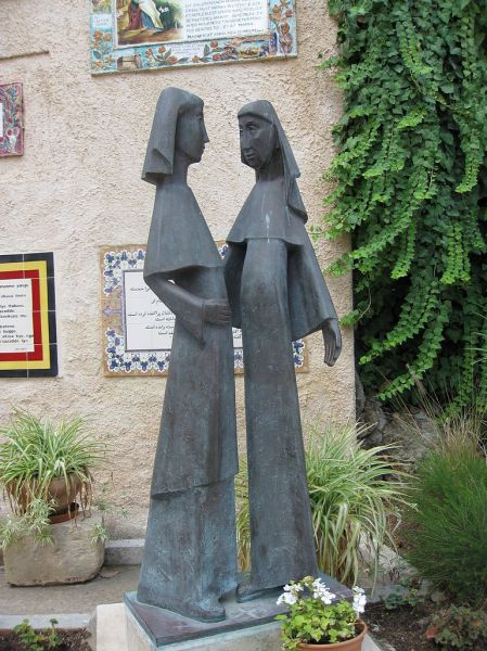 Statue of the Visitation at the Ein Karem Church of the Visitation
