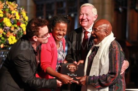 Desmond Tutu at book launch