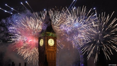 New Year Fireworks London 2012