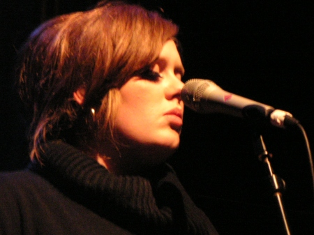 Adele performing live in 2009