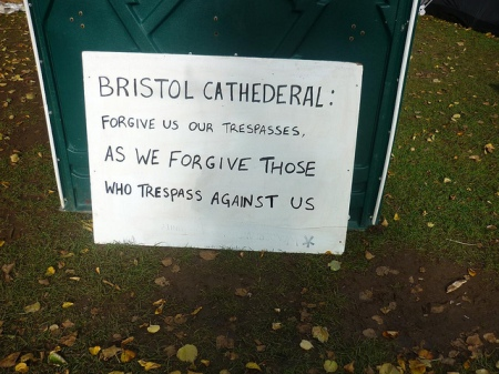 Bristol Cathedral - Forgive us our trespasses as we forgive those who trespass against us