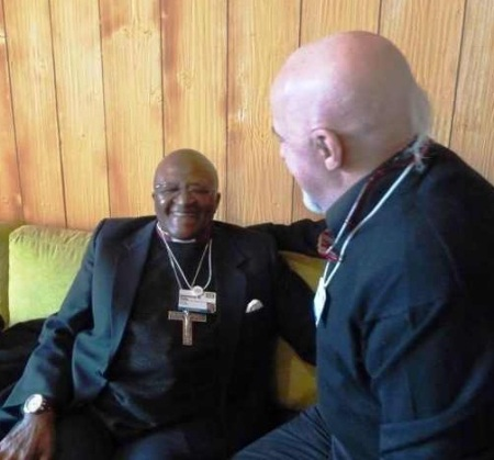 Desmond Tutu and Paulo Coelho at Davos