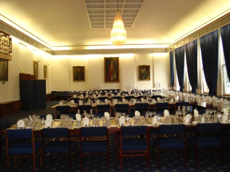 Officer's Mess laid for Bomber Command Dinner