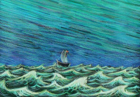 boat on the sea - Ken Crane