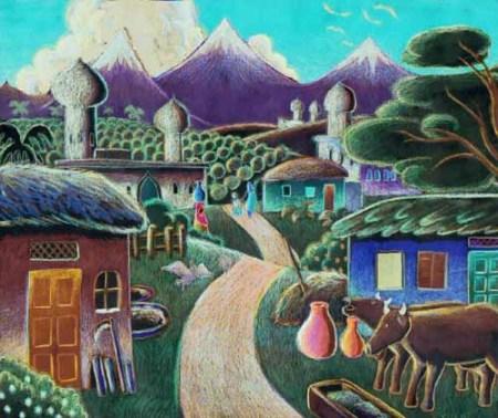 farmland in the Punjab - Ken Crane
