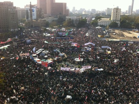 Aerial shot of Tahrir Square