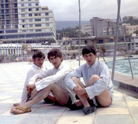 The Beatles en la Playa de Martianez en Puerto de la Cruz
