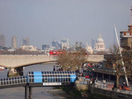 Thames and St Paul's from Hungerford Bridge