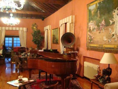 salón en Abaco Mansión Canaria en Puerto de la Cruz