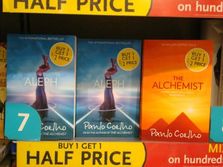 Aleph and The Alchemist joint No 7 (in non fiction chart)