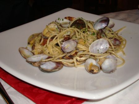 shellfish and spaghetti
