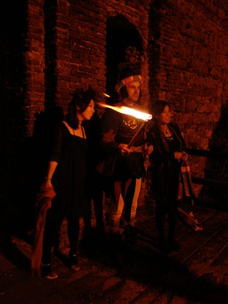 Venetian soldiers with flaming swords