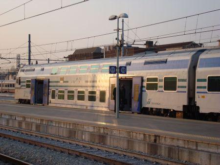 Venezia Mestre double deck train