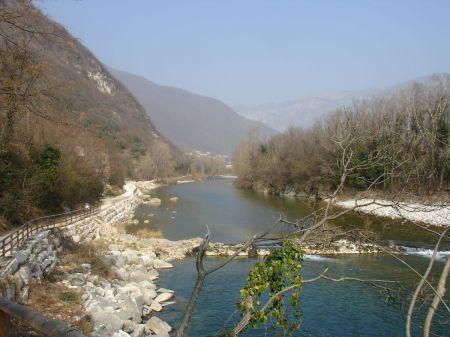 A morning walk along the River Brenta